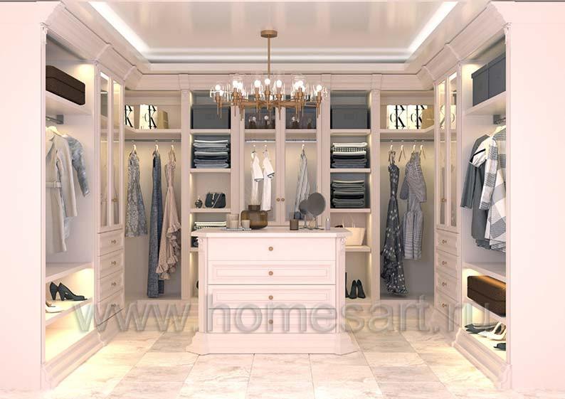 Мебель для гардеробной в классическом стиле