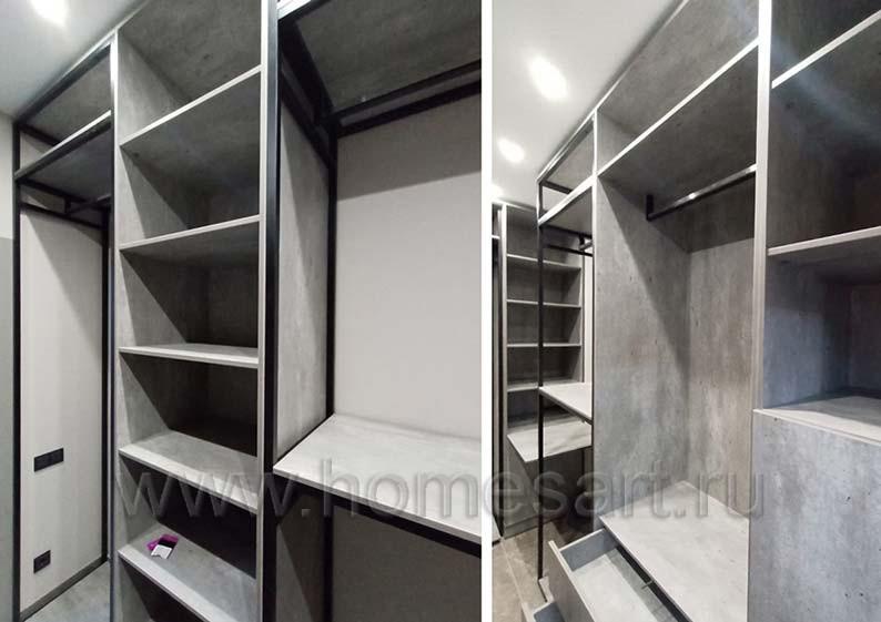 Мебель ЛОФТ для гардеробной в квартире