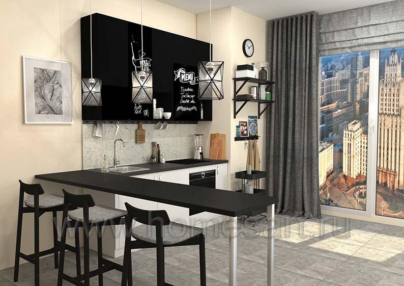 Кухня для офиса в стиле ЛОФТ