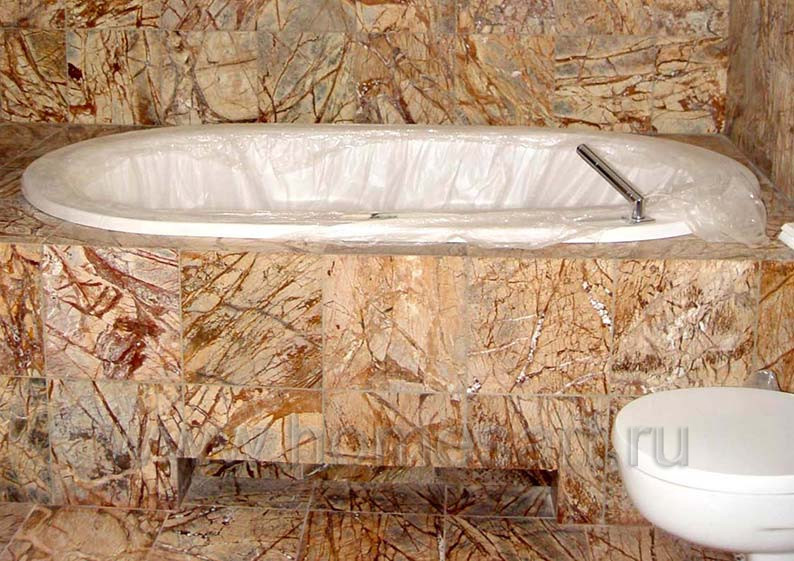 Ванная комната в натуральном камне